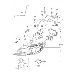 Audi Q7 Tri-Xenon Far Beyni 4L0941329 - 5