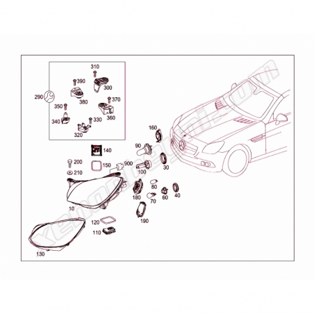 Mercedes SLK Xenon Far Beyni - 5