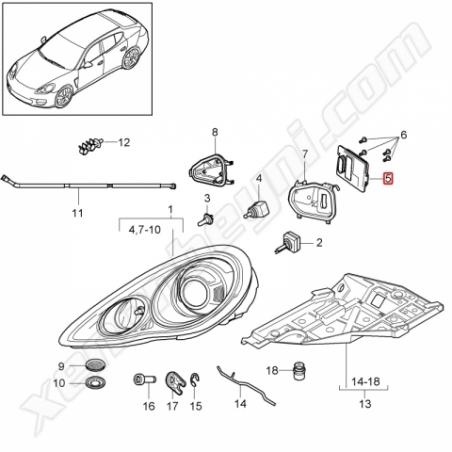 Porsche Panamera Xenon Far Beyni Hella Orjinal 5DC 009 060-311 - 3