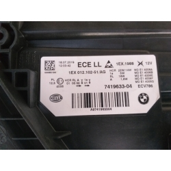 BMW F30 Lci Led Sol Far Sıfır Orjinal 7419633 - 6