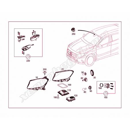 Mercedes W156 GLA Led Far Beyni - 5