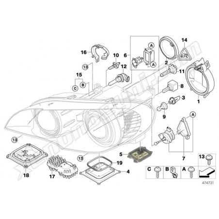 BMW E70 X5 Xenon Far Beyni - 5