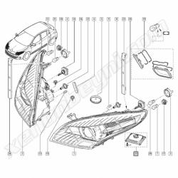 Renault Megane Fluence Xenon Far Beyni - 5