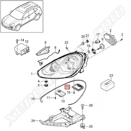 Porsche Cayenne Xenon Far Beyni - 4